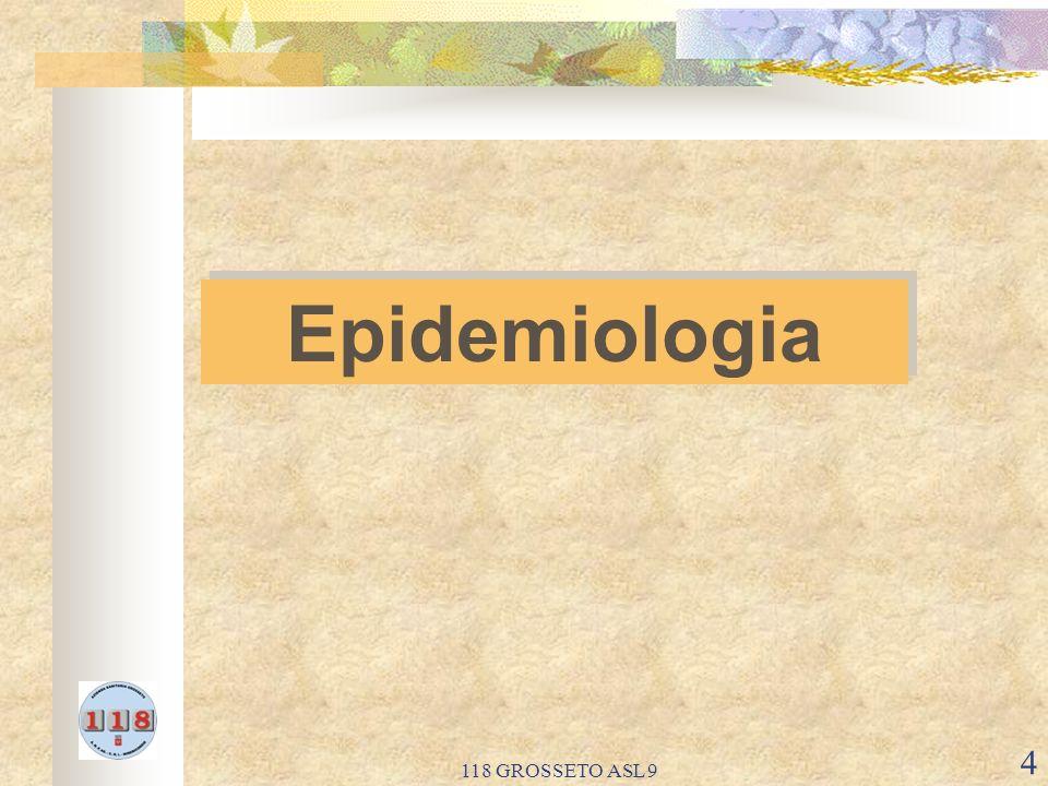 118 GROSSETO ASL 9 5 Le principali cause di mortalita nei lattanti e nei bambini sono i deficit respiratori, la Sindrome della morte improvvisa del lattante (SIDS), le infezioni, le malattie neurologiche e gli incidenti