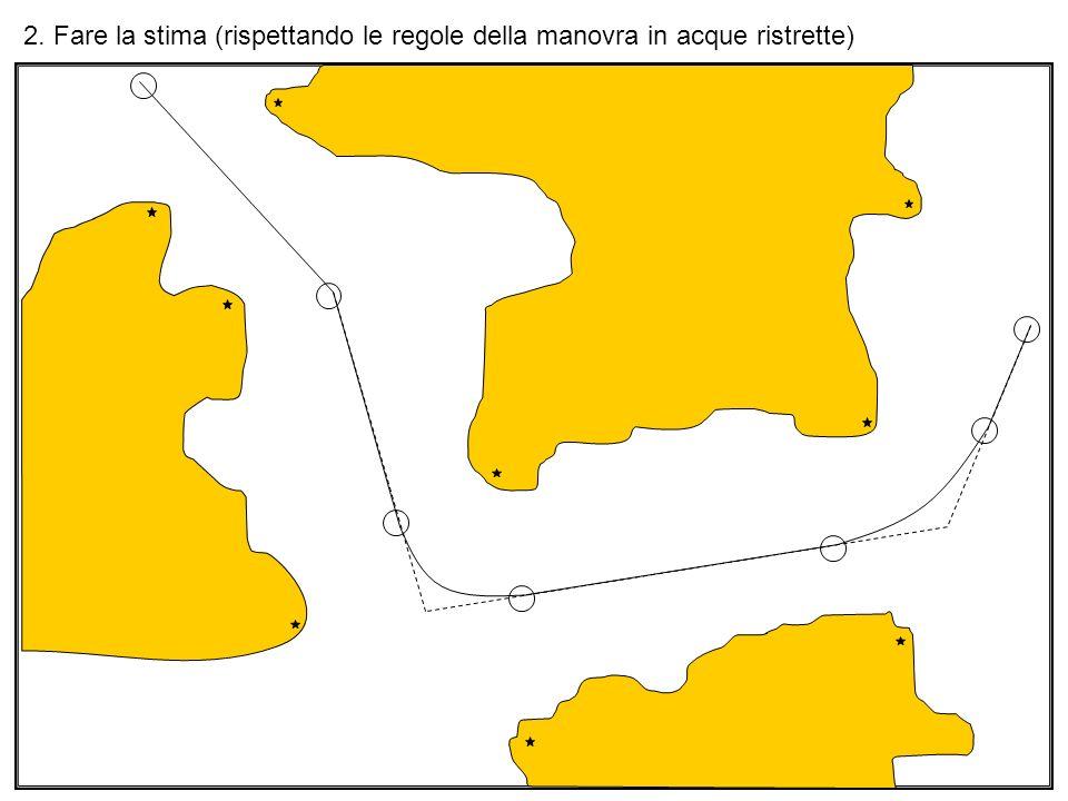 2. Fare la stima (rispettando le regole della manovra in acque ristrette)