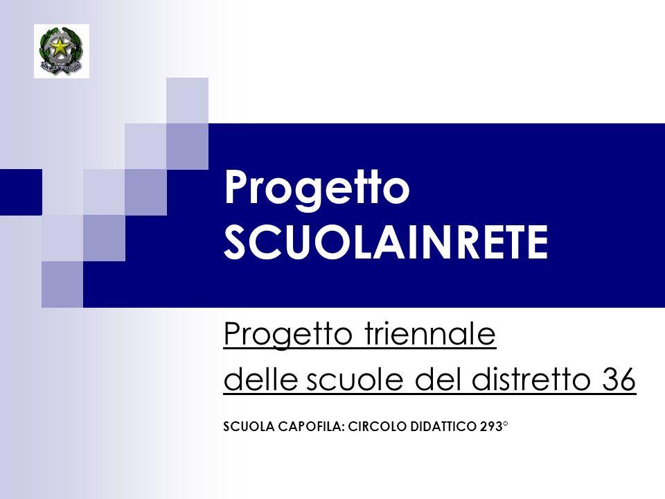 Progetto SCUOLAINRETE Progetto triennale delle scuole del distretto 36 SCUOLA CAPOFILA: CIRCOLO DIDATTICO 293°