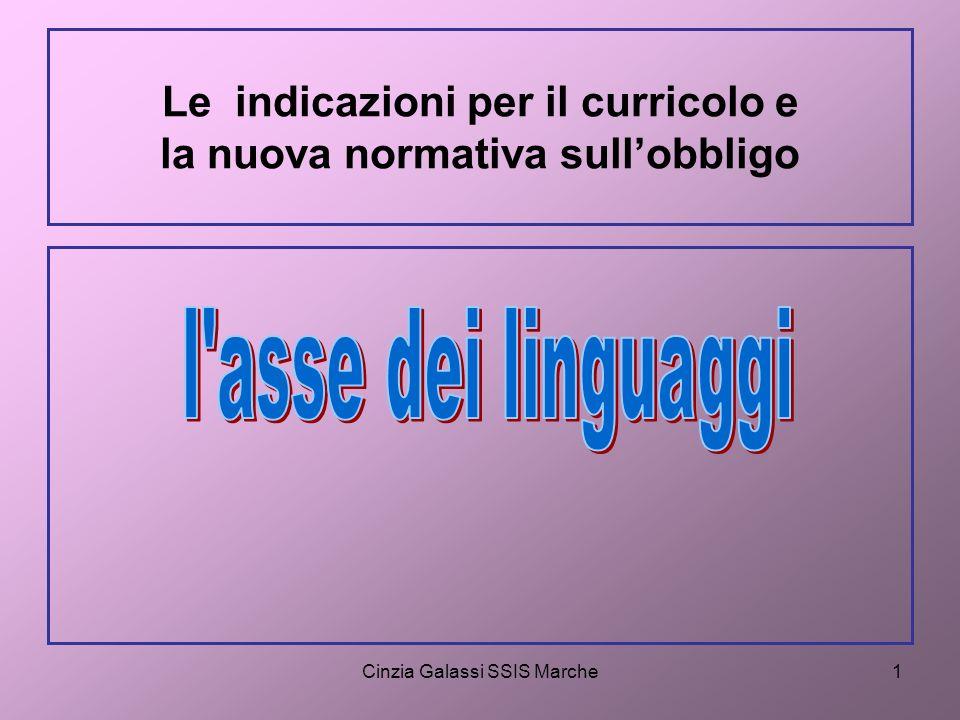 Cinzia Galassi SSIS Marche12 Quante lingue parli bene abbastanza per potere sostenere una conversazione, esclusa la tua lingua madre?