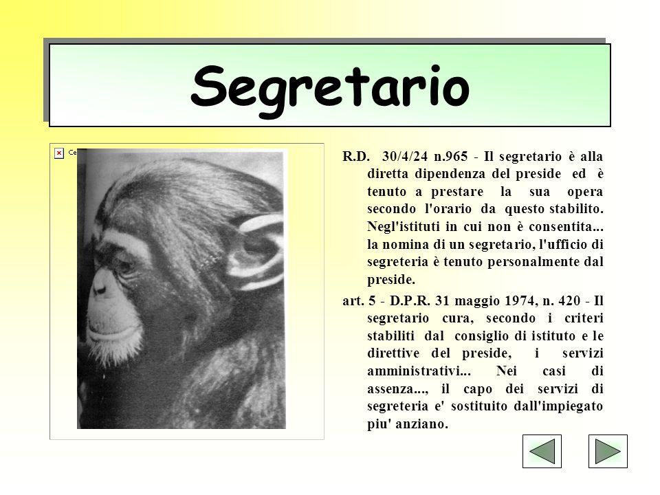 Coordinatore amministrativo D.P.R.7/3/1985, n.