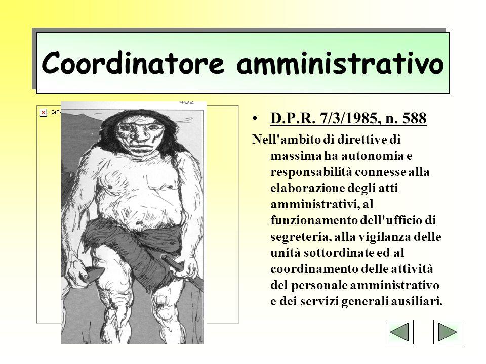 Responsabile amministrativo Art.