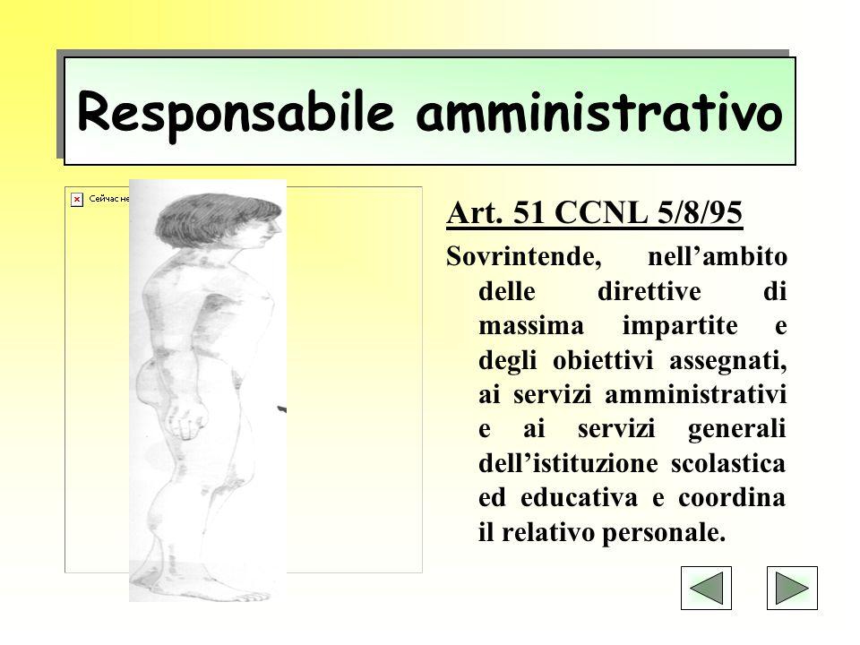 Direttore dei servizi generali ed amministrativi CCNL 1998/2001 Svolge attività lavorativa di rilevante complessità ed avente rilevanza esterna.