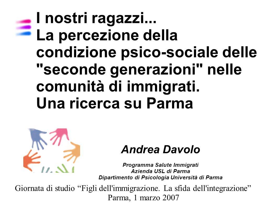 Contesto Nuova generazione prodotto dellimmigrazione Ricongiungimenti familiari, nascita dei figli, scolarizzazione, incrementano i rapporti tra gli immigrati e le istituzioni della società ricevente La realtà demografica di Parma
