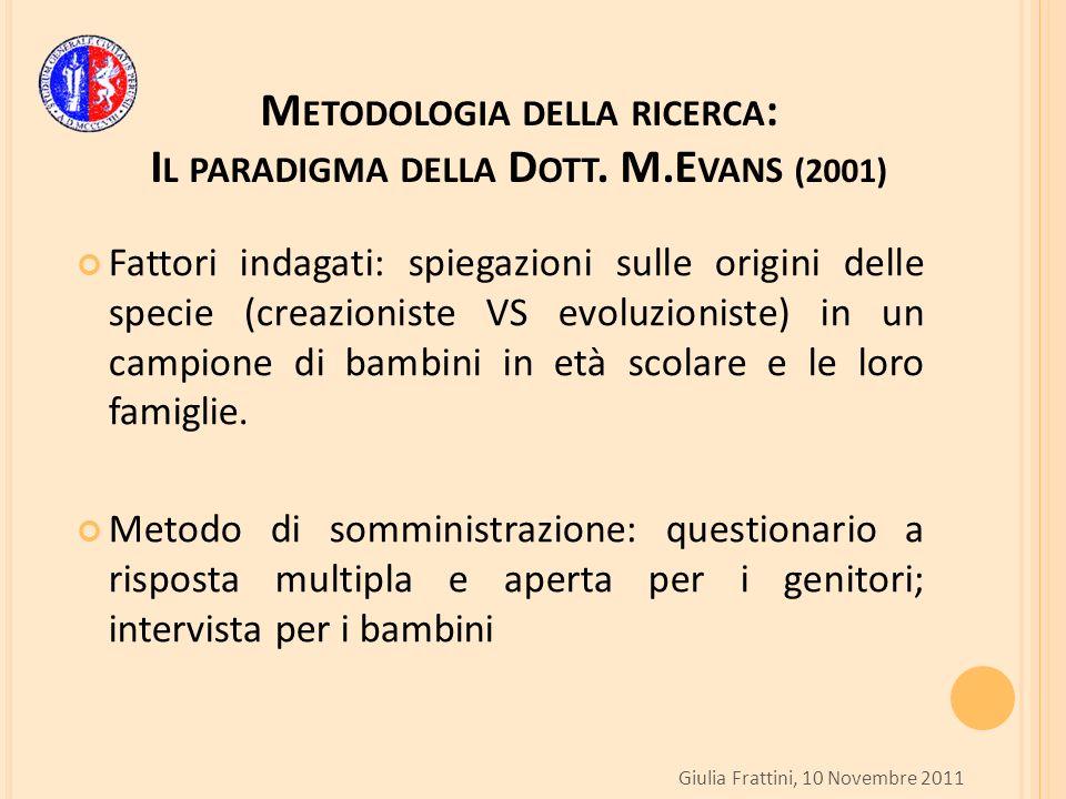 M ETODOLOGIA DELLA RICERCA : I L PARADIGMA DELLA D OTT.