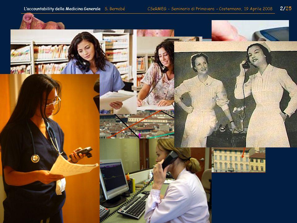 2/25 Laccountability della Medicina Generale S. Bernabé CSeRMEG - Seminario di Primavera – Costermano, 19 Aprile 2008
