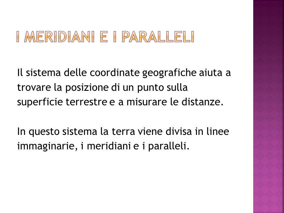Il sistema delle coordinate geografiche aiuta a trovare la posizione di un punto sulla superficie terrestre e a misurare le distanze. In questo sistem