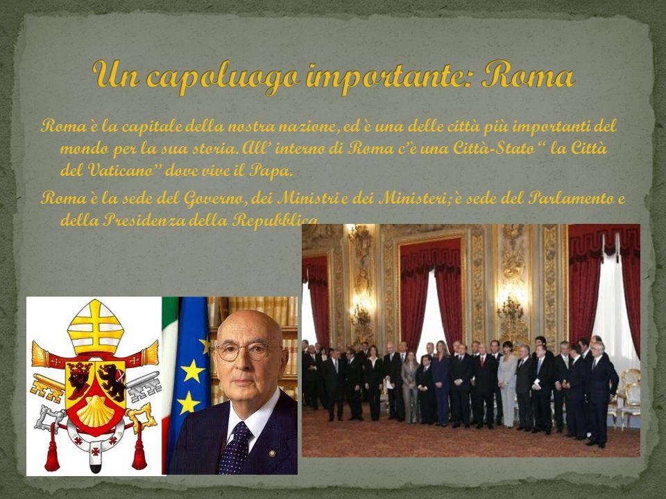 Roma è la capitale della nostra nazione, ed è una delle città più importanti del mondo per la sua storia. All interno di Roma cè una Città-Stato la Ci