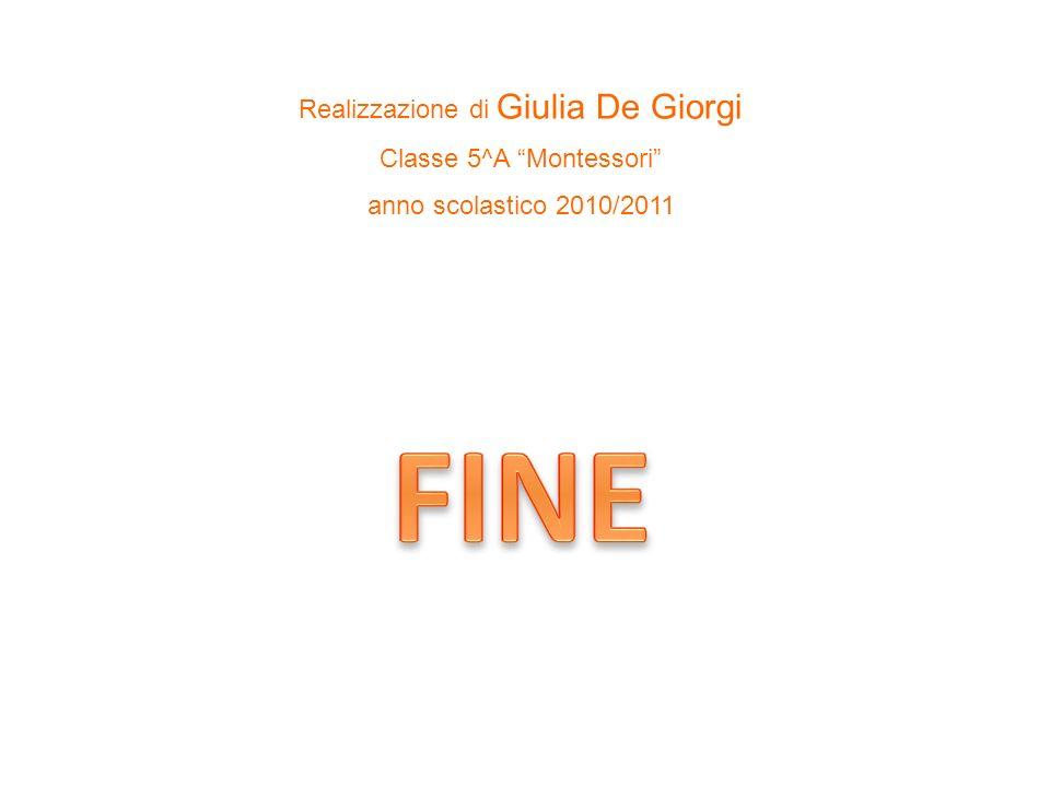 Realizzazione di Giulia De Giorgi Classe 5^A Montessori anno scolastico 2010/2011