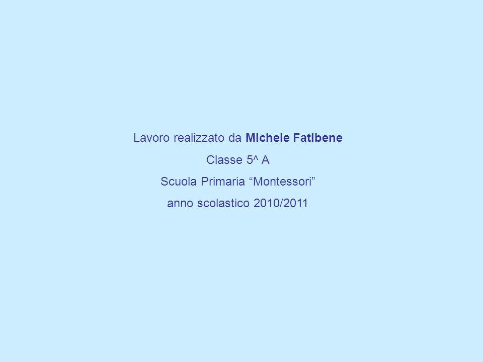 Lavoro realizzato da Michele Fatibene Classe 5^ A Scuola Primaria Montessori anno scolastico 2010/2011