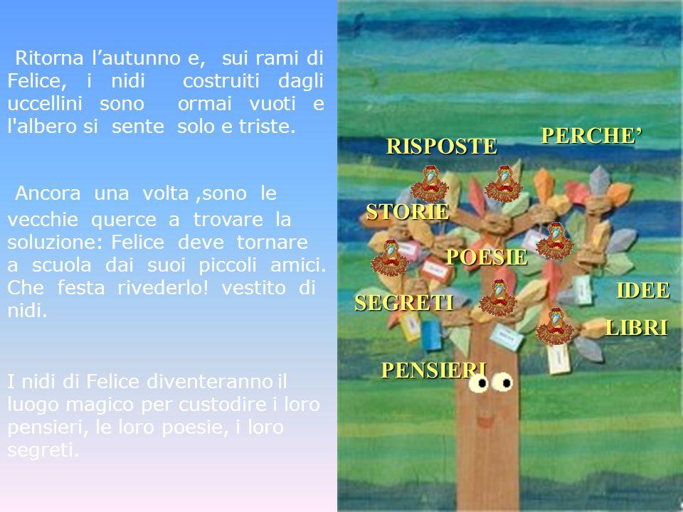 Ritorna lautunno e, sui rami di Felice, i nidi costruiti dagli uccellini sono ormai vuoti e l'albero si sente solo e triste. Ancora una volta,sono le