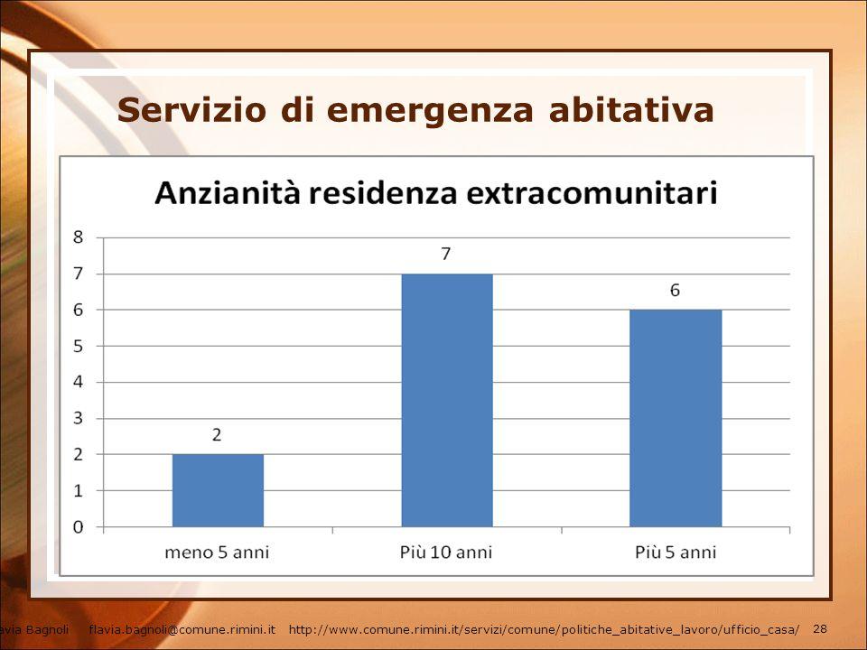 Servizio di emergenza abitativa Flavia Bagnoli flavia.bagnoli@comune.rimini.it http://www.comune.rimini.it/servizi/comune/politiche_abitative_lavoro/u