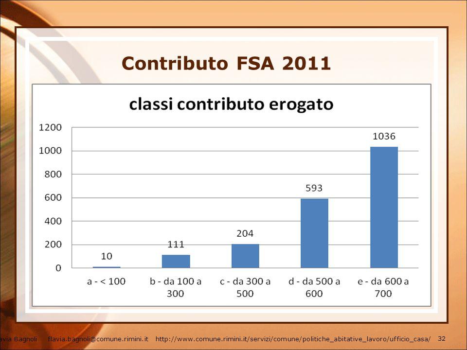 Contributo FSA 2011 Flavia Bagnoli flavia.bagnoli@comune.rimini.it http://www.comune.rimini.it/servizi/comune/politiche_abitative_lavoro/ufficio_casa/