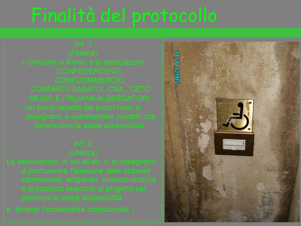 Finalità del protocollo Art. 1 (Finalità) l Comune di Rimini e le associazioni CONFESERCENTI, CONFCOMMERCIO, CONFARTIGIANATO, CNA, CETO MEDIO E ITALIA