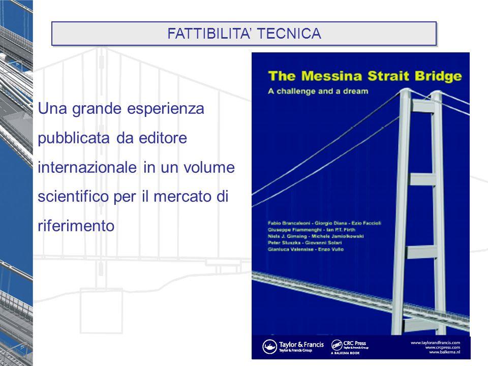 Una grande esperienza pubblicata da editore internazionale in un volume scientifico per il mercato di riferimento FATTIBILITA TECNICA