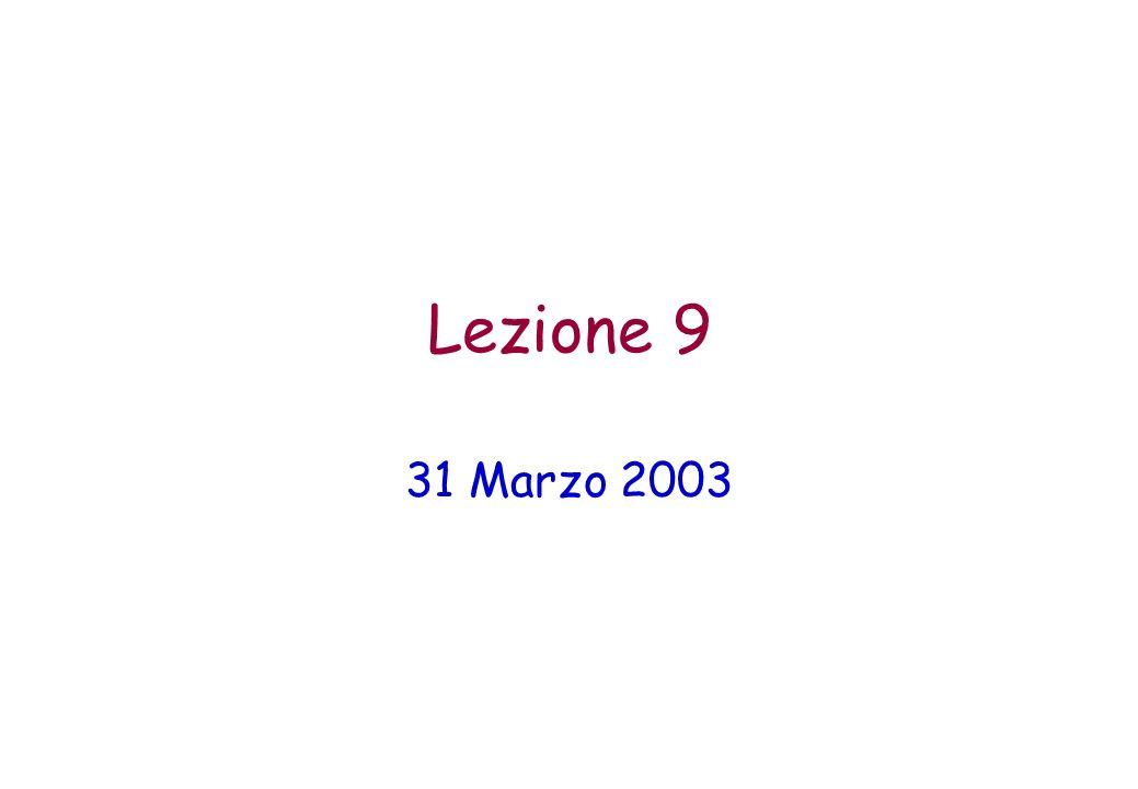 Lezione 9 31 Marzo 2003