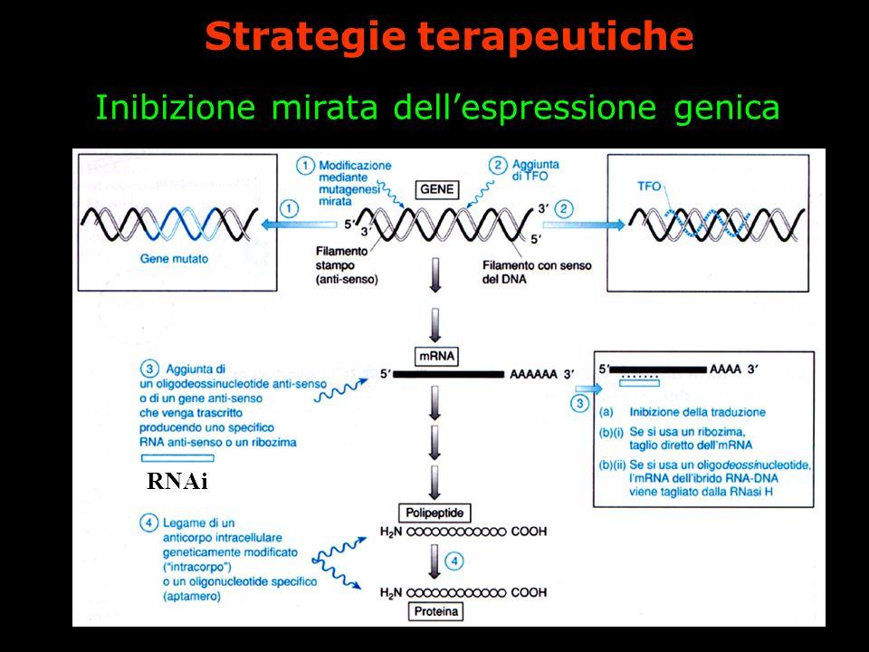 Inibizione mirata dellespressione genica Strategie terapeutiche RNAi