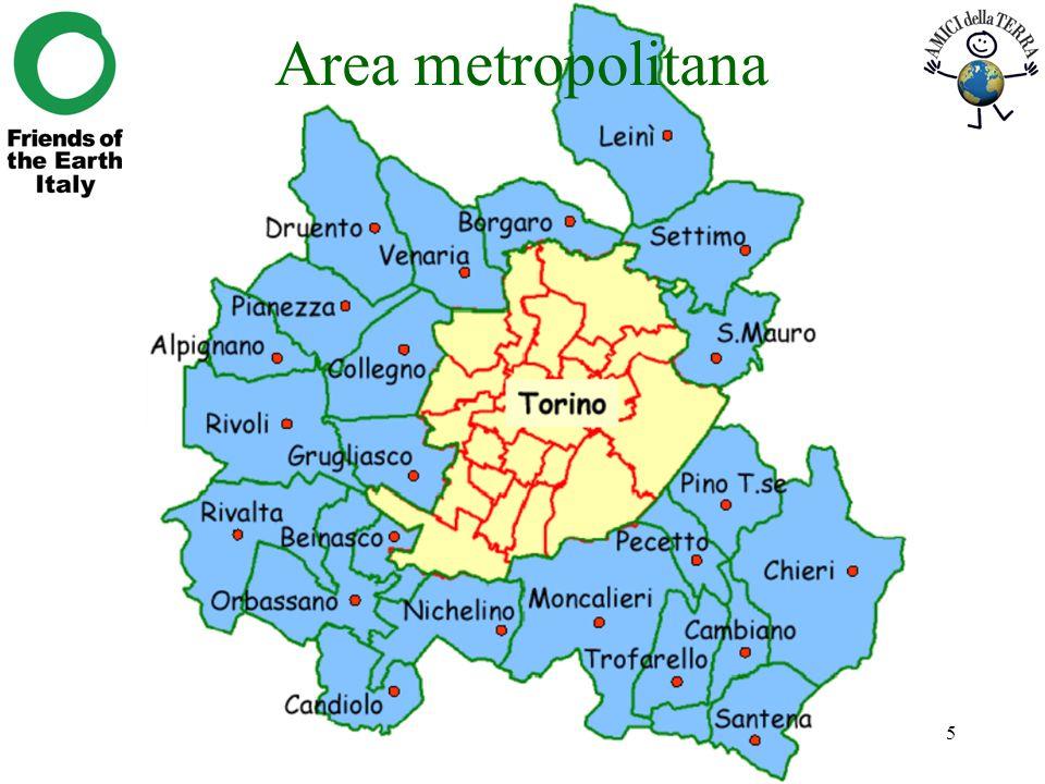 Richiardi, I costi esterni della mobilità metropolitana a Torino5 Area metropolitana