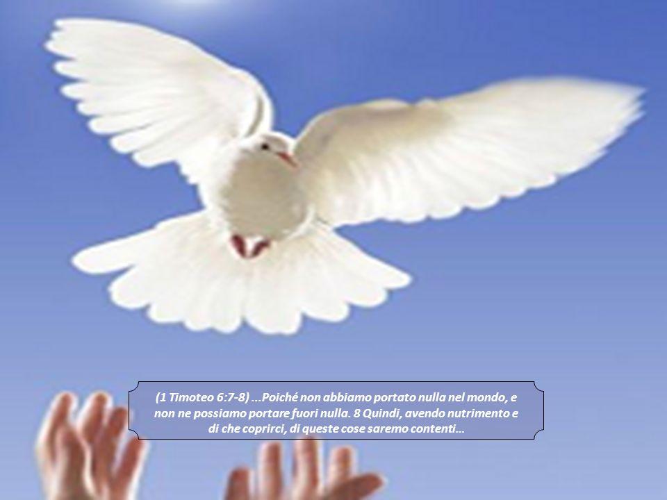 E ci preoccupiamo solo di AVERE, AVERE E AVERE SEMPRE DI PIU, dimenticandoci le parole di 1 TM 6:7-8: