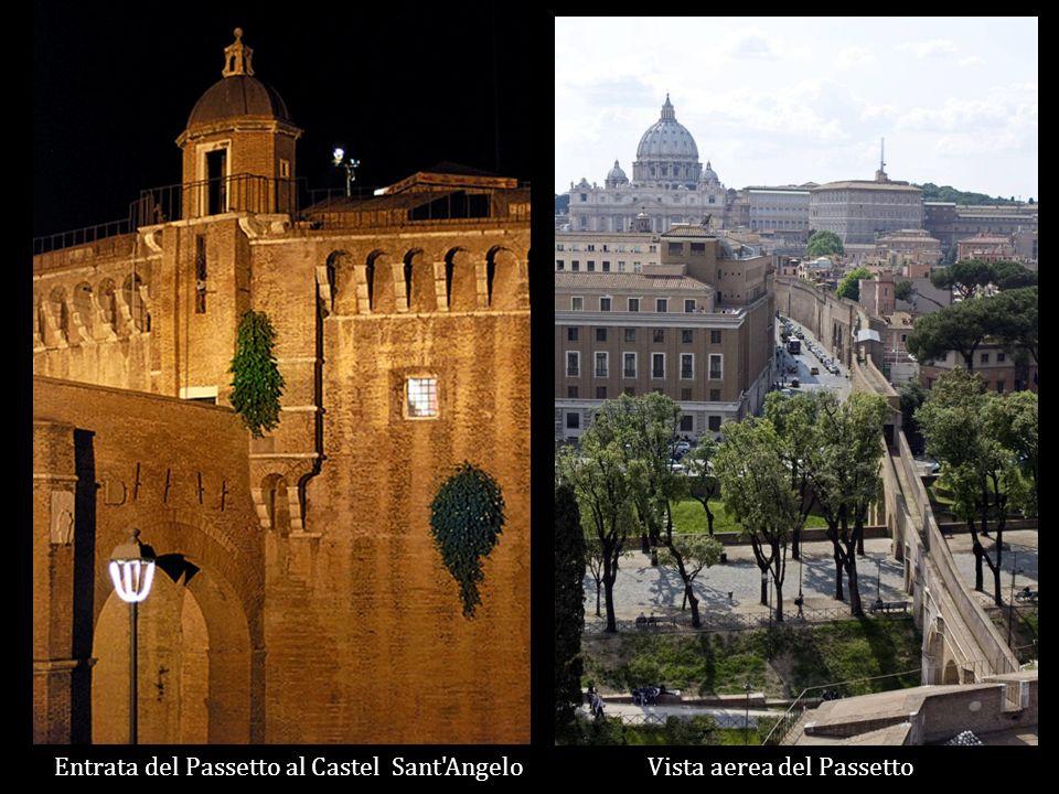 Vista aerea del PassettoEntrata del Passetto al Castel Sant Angelo