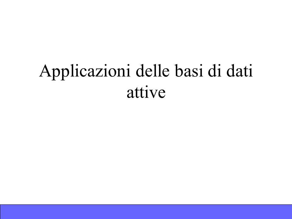 Applicazioni delle basi di dati attive
