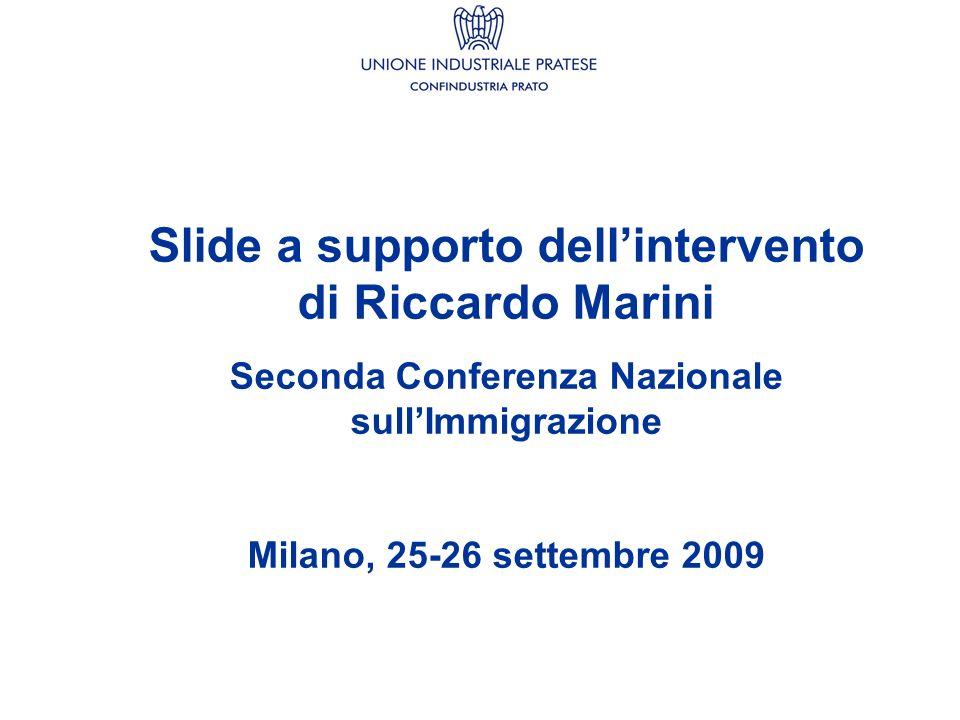 Slide a supporto dellintervento di Riccardo Marini Seconda Conferenza Nazionale sullImmigrazione Milano, 25-26 settembre 2009