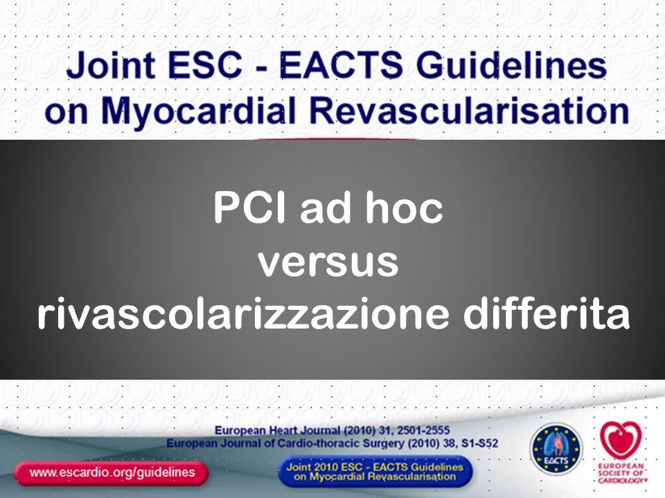 PCI ad hoc versus rivascolarizzazione differita