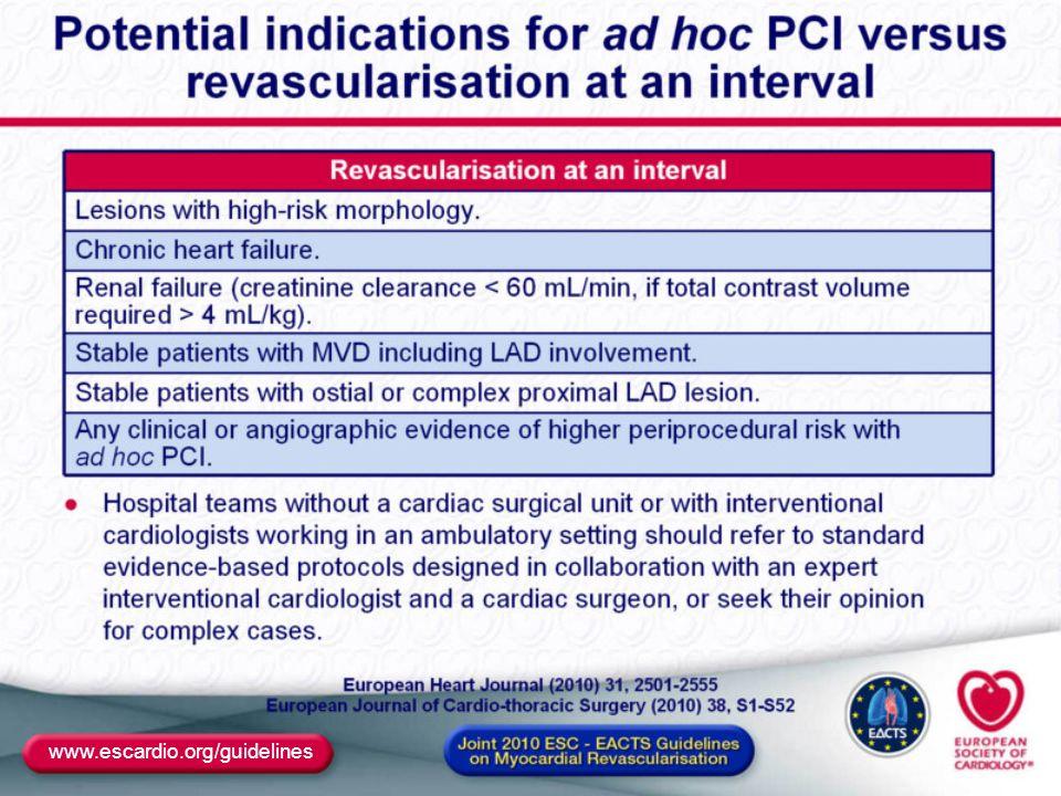 Rivascolarizzazione nella cardiopatia ischemica stabile