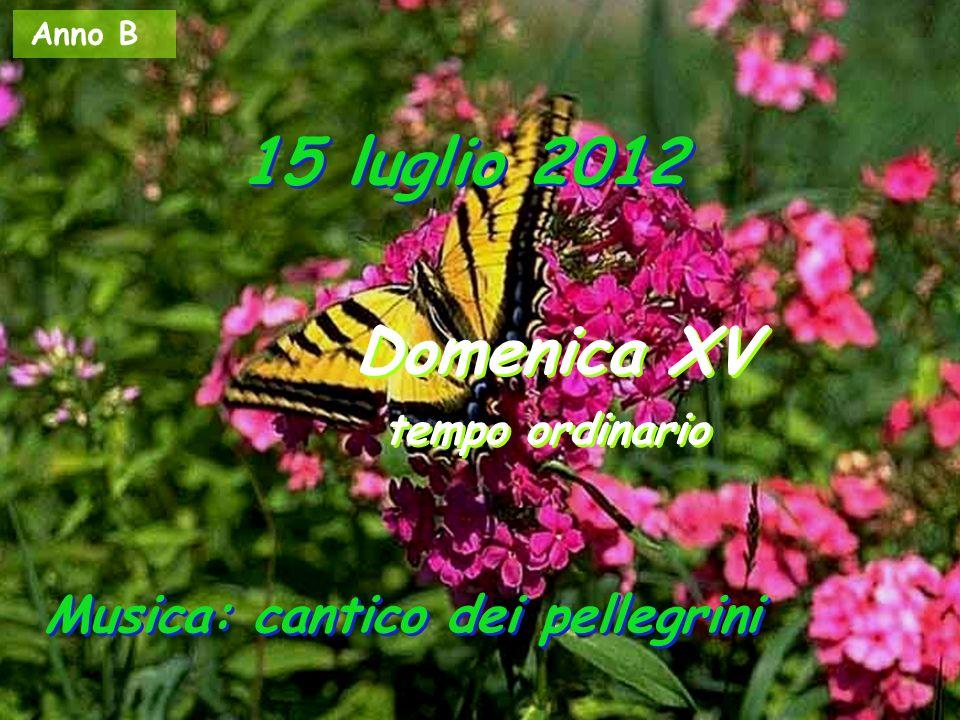 Anno B 15 luglio 2012 Domenica XV tempo ordinario Domenica XV tempo ordinario Musica: cantico dei pellegrini