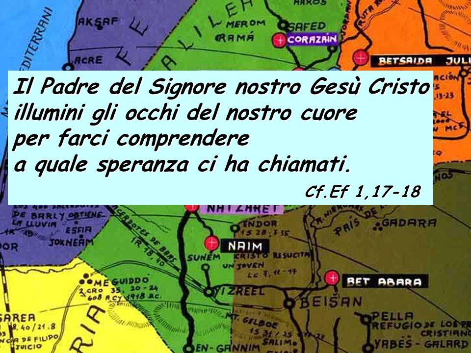 Ef 1, 3-14 Benedetto Dio, Padre del Signore nostro Gesù Cristo, che ci ha benedetti con ogni benedizione spirituale nei cieli in Cristo.