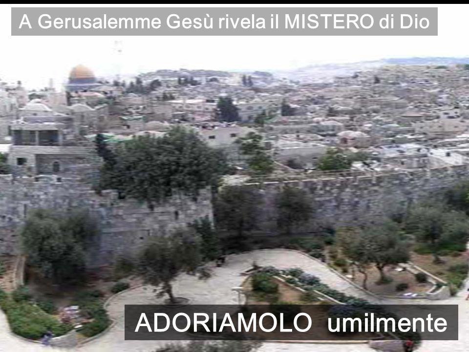 A Gerusalemme Gesù rivela il MISTERO di Dio ADORIAMOLO umilmente