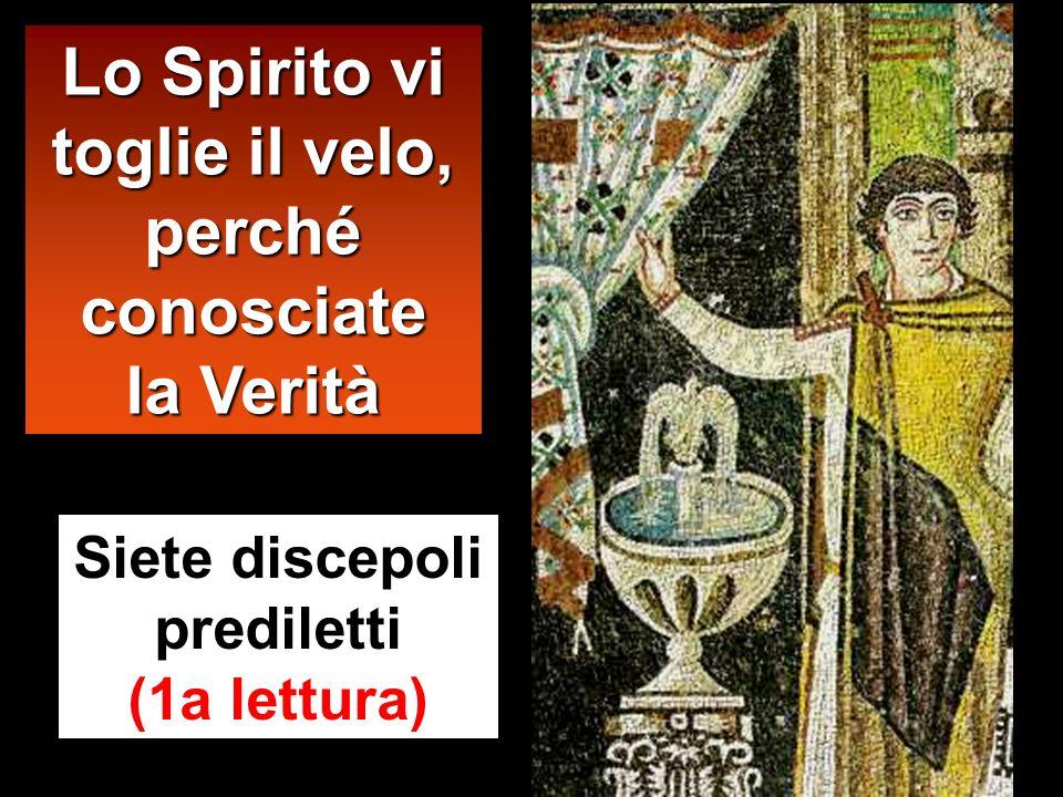 Lo Spirito vi toglie il velo, perché conosciate la Verità Siete discepoli prediletti (1a lettura)