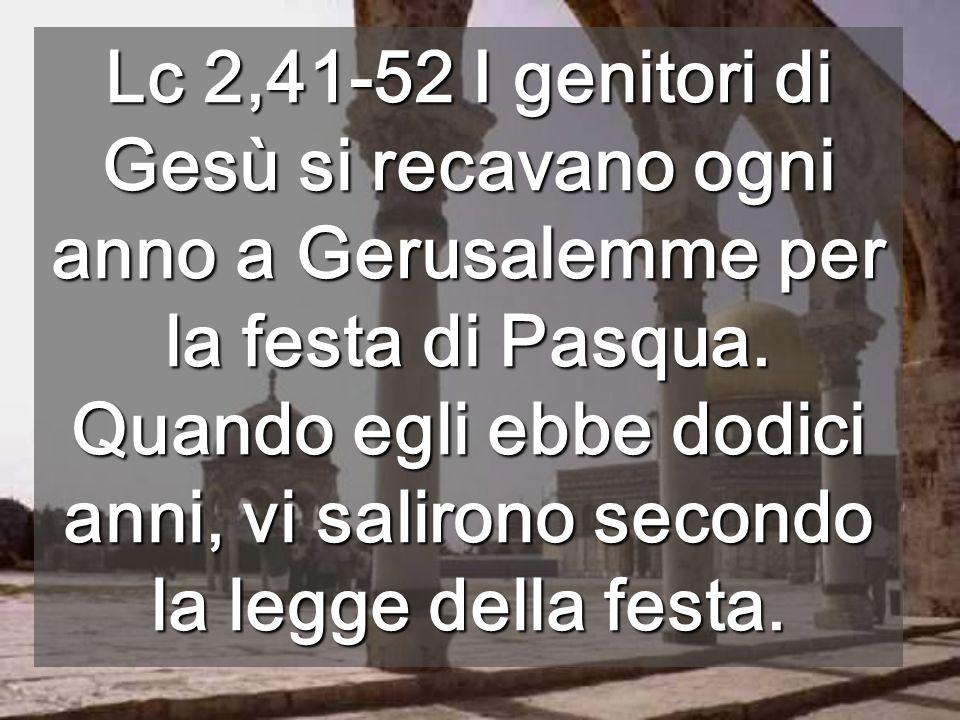 Secondo il Vangelo, qui Gesù discuteva con i dottori della Legge Luogo dove stava il Tempio