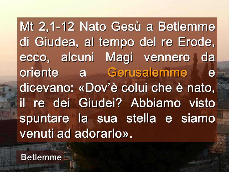Seguiamo la STELLA del nostro Betlemme Piazza della Basilica di Betlemme