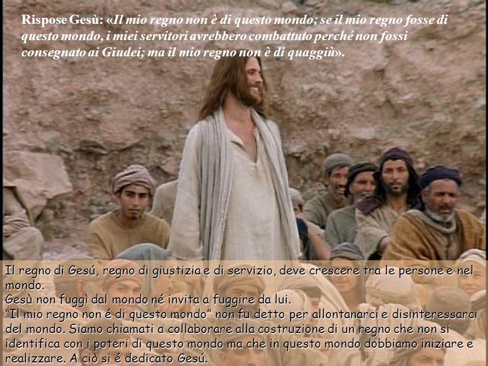 Gesù rispose: «Dici questo da te oppure altri te l'hanno detto sul mio conto?». Pilato rispose: «Sono io forse Giudeo? La tua gente e i sommi sacerdot
