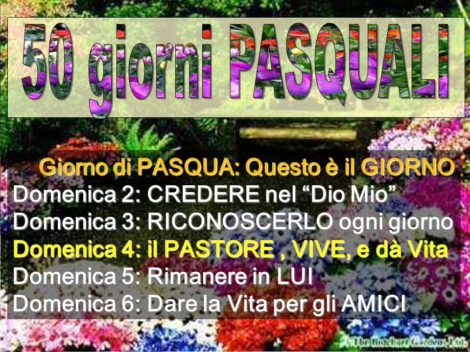 www.benedictinescat.com/montserrat Il Surrexit pastor bonus di Mendelsshon, cantato dai piccoli cantori di Montserrat, ci fa sentire il BUON PASTORE PASQUA