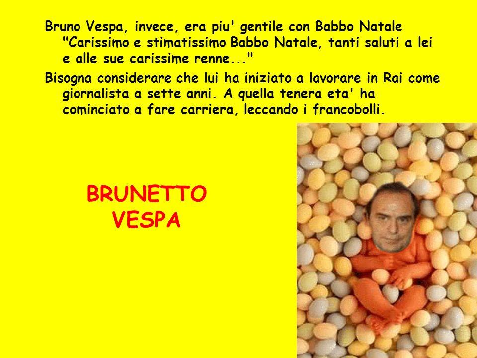 Bruno Vespa, invece, era piu' gentile con Babbo Natale