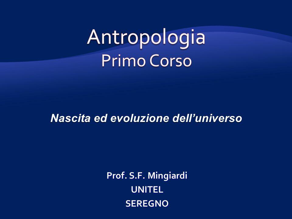 Nascita ed evoluzione delluniverso Prof. S.F. Mingiardi UNITELSEREGNO