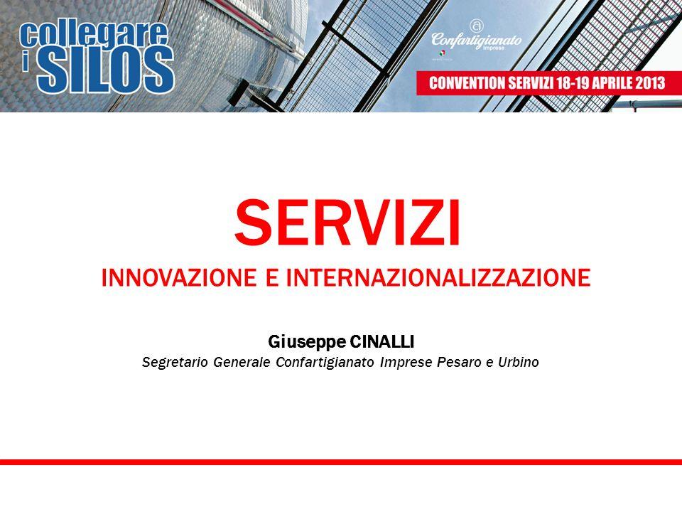 SERVIZI INNOVAZIONE E INTERNAZIONALIZZAZIONE Giuseppe CINALLI Segretario Generale Confartigianato Imprese Pesaro e Urbino