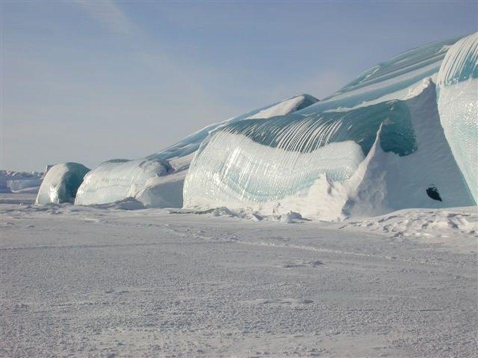 Onde congelate !..... L acqua si è gelata immediatamente nel momento in cui londa ha toccato il ghiaccio. Ecco cosa accade nell Antartico dove ci sono
