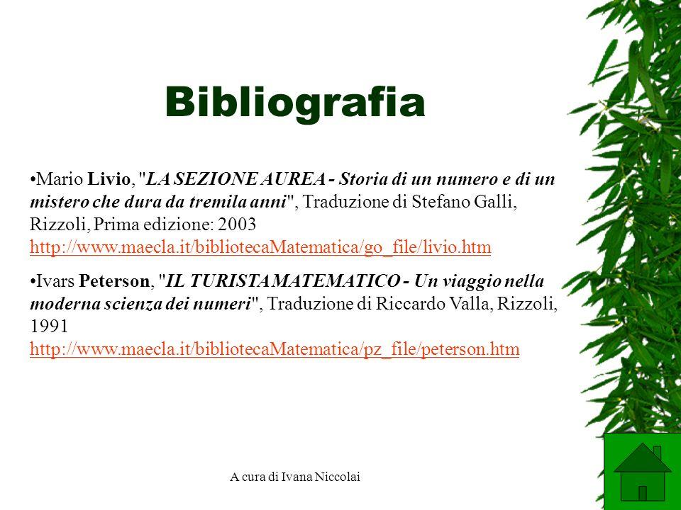 A cura di Ivana Niccolai Bibliografia Mario Livio,