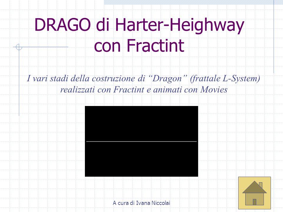 A cura di Ivana Niccolai DRAGO di Harter-Heighway con Fractint I vari stadi della costruzione di Dragon (frattale L-System) realizzati con Fractint e