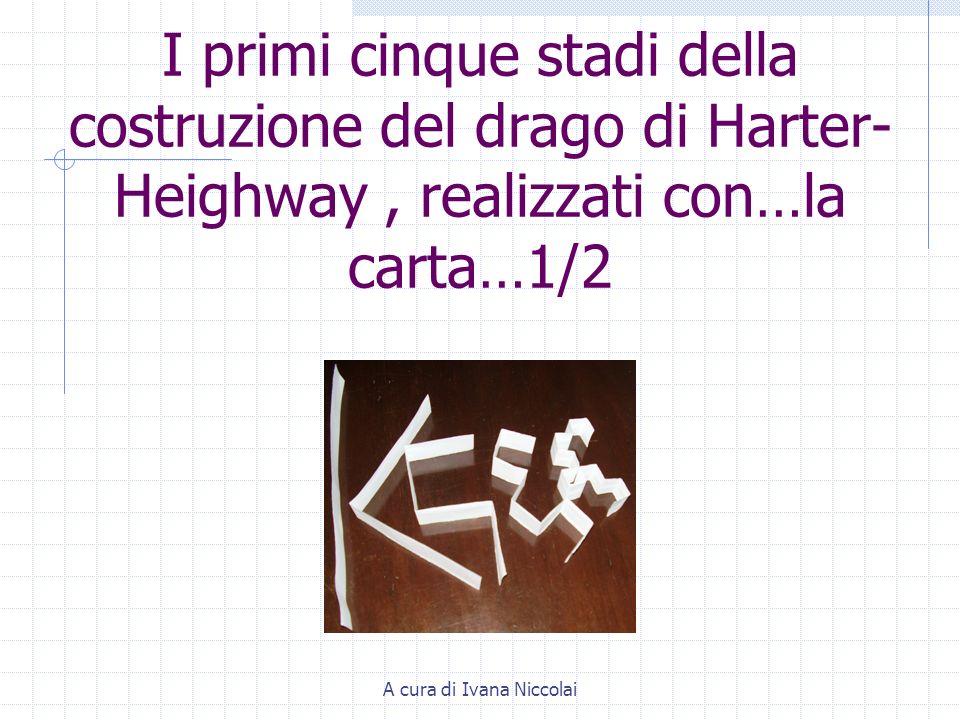 A cura di Ivana Niccolai I primi cinque stadi della costruzione del drago di Harter- Heighway, realizzati con…la carta…1/2