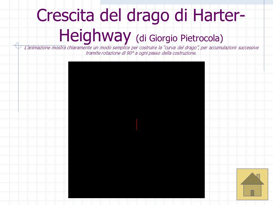 A cura di Ivana Niccolai Crescita del drago di Harter- Heighway (di Giorgio Pietrocola) Lanimazione mostra chiaramente un modo semplice per costruire