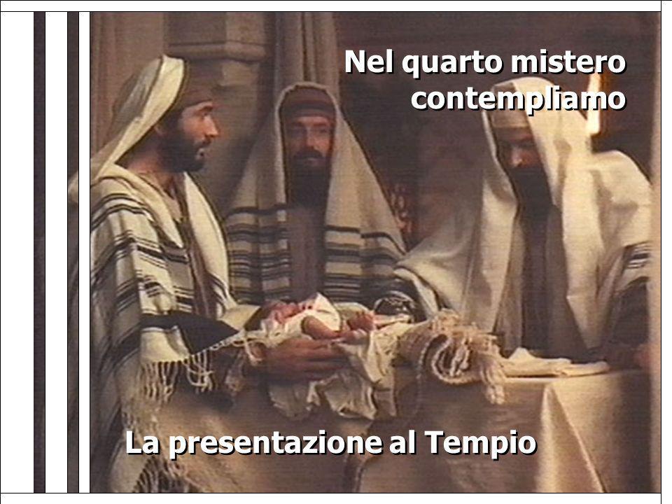 La presentazione al Tempio La presentazione al Tempio Nel quarto mistero contempliamo Nel quarto mistero contempliamo