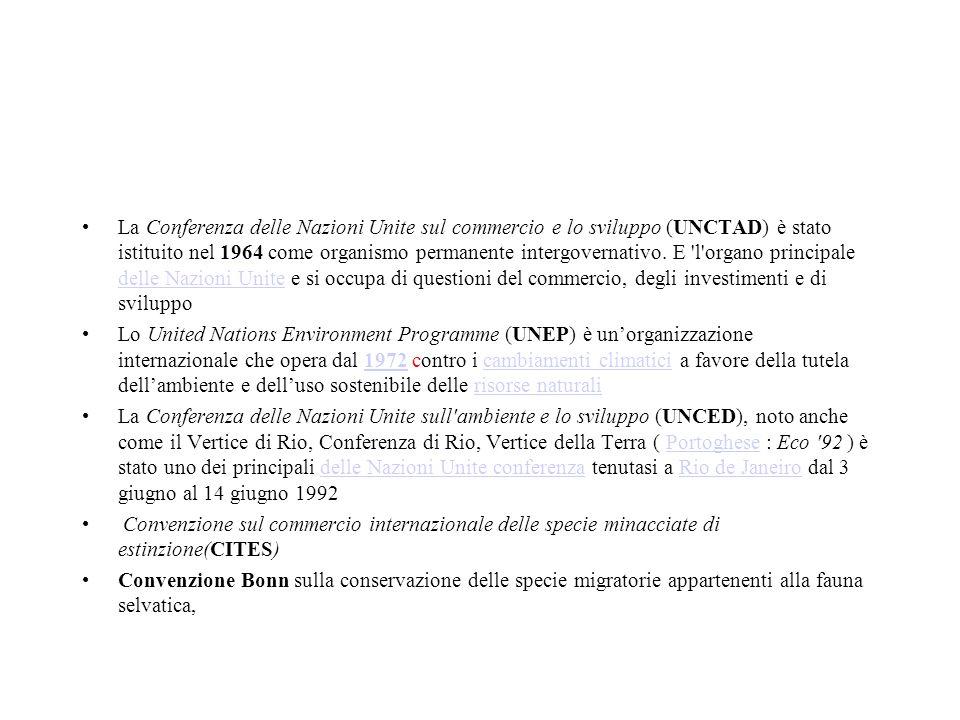 La Conferenza delle Nazioni Unite sul commercio e lo sviluppo (UNCTAD) è stato istituito nel 1964 come organismo permanente intergovernativo. E 'l'org