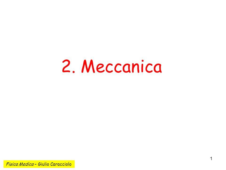 1 2. Meccanica Fisica Medica – Giulio Caracciolo