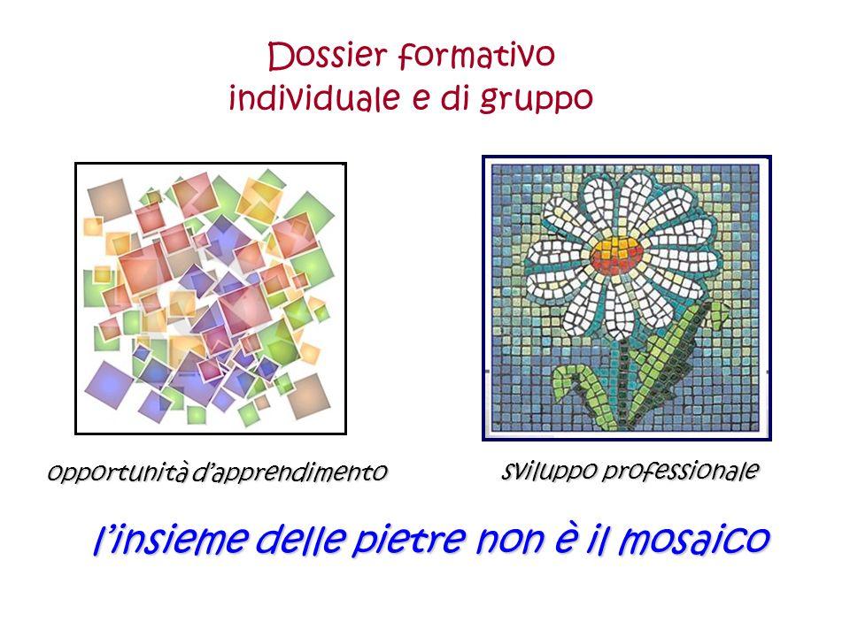 linsieme delle pietre non è il mosaico sviluppo professionale opportunità dapprendimento Dossier formativo individuale e di gruppo