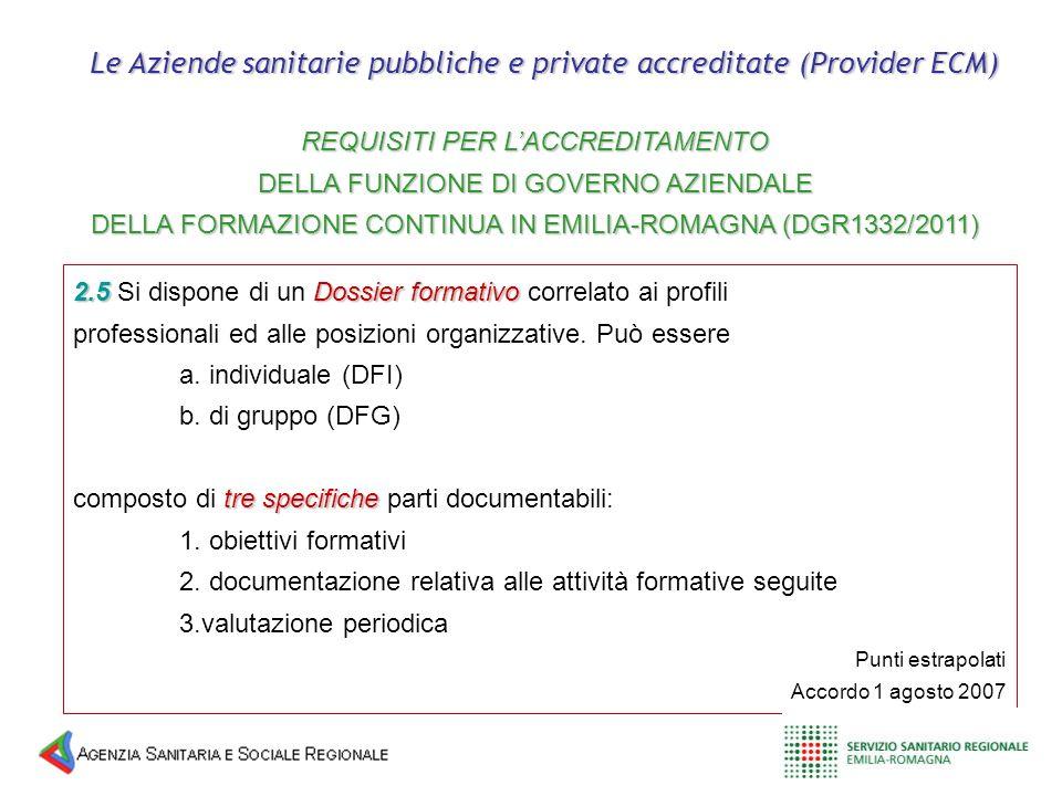 2.5Dossier formativo 2.5 Si dispone di un Dossier formativo correlato ai profili professionali ed alle posizioni organizzative. Può essere a. individu