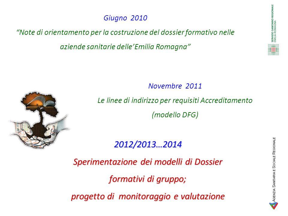 Giugno 2010 Note di orientamento per la costruzione del dossier formativo nelle aziende sanitarie delleEmilia Romagna Novembre 2011 Le linee di indiri